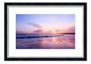 Fine art framed print of Sunset at Arbroath Beach