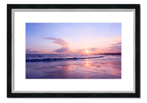 Fine art framed print of Sunset at Arbroath Beach