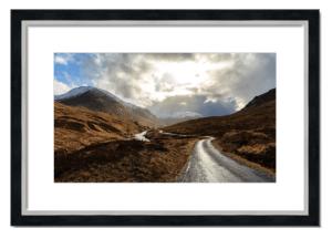 Fine art framed print of Glen Etive