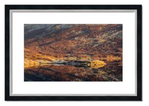 Fine art framed print of Loch nan Eun Sunrise