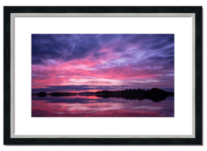 Fine art framed print of Monikie Sunset