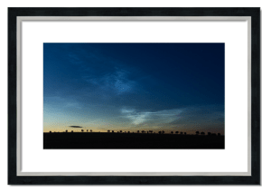 Fine art framed print of Noctilucent Clouds