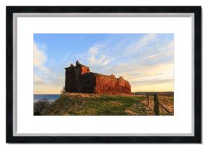 Fine art framed print of Red Castle, Lunan Bay