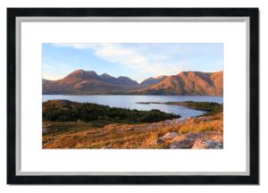 Fine art framed print of Upper Loch Torridon