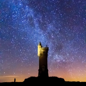 The Milky Way above the Airlie Monument on Tulloch Hill