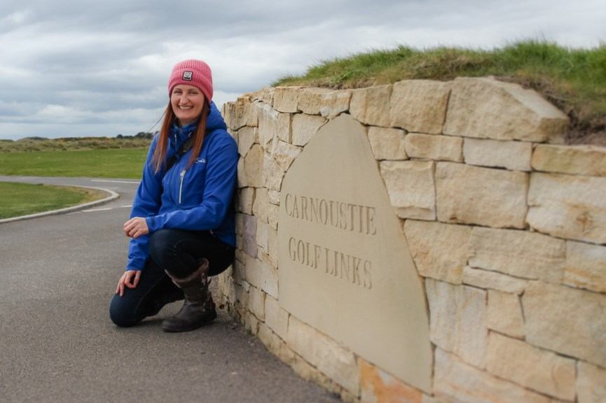 Photo of Anne Johnston in Carnoustie