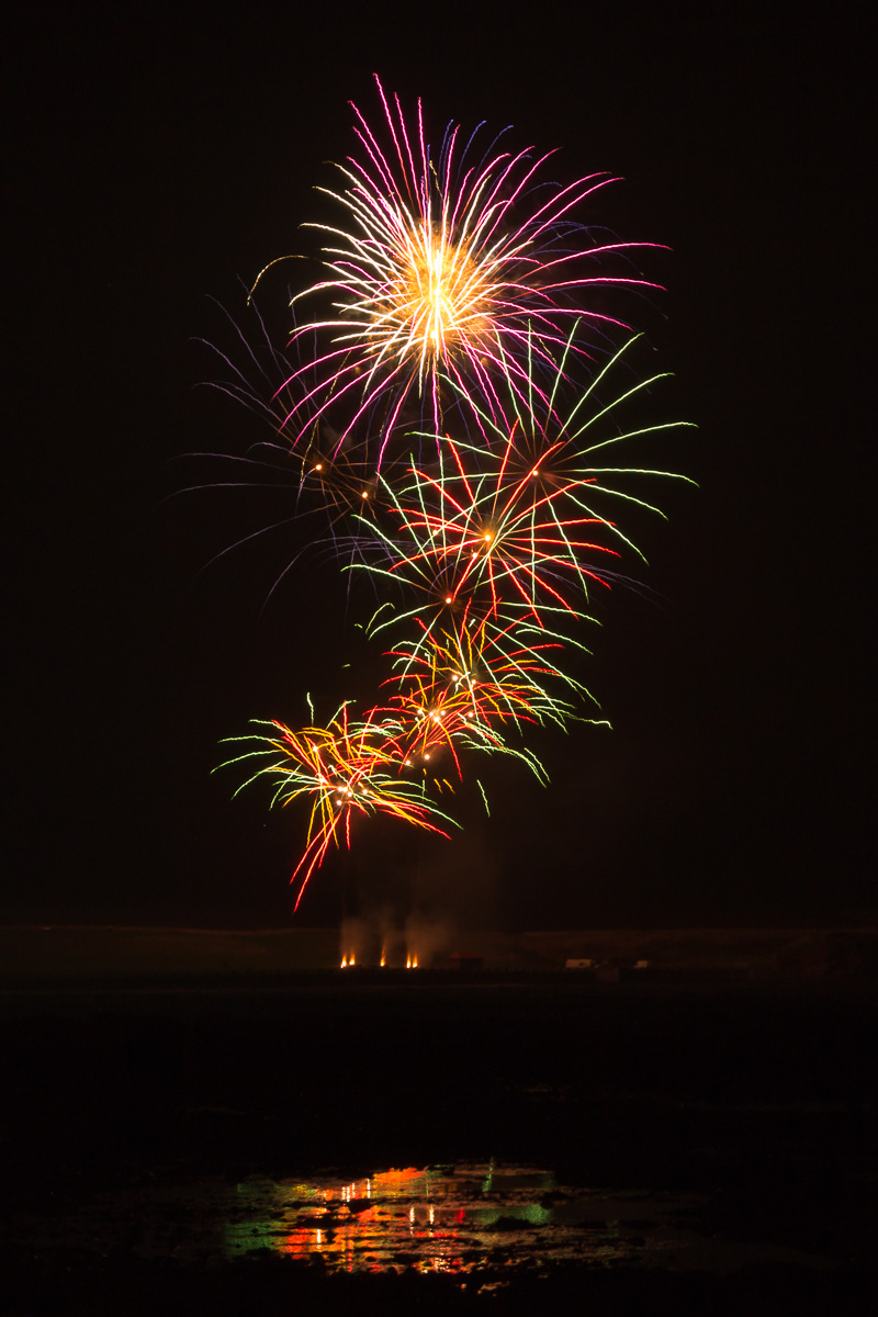 Fireworks display in Arbroath