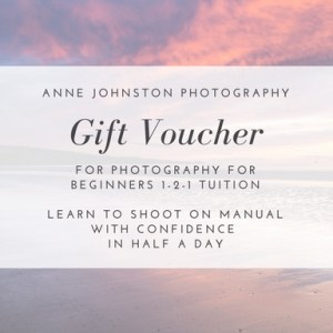 Gift voucher for Photography for Beginners 1-2-1 course in Angus, Dundee and Perth
