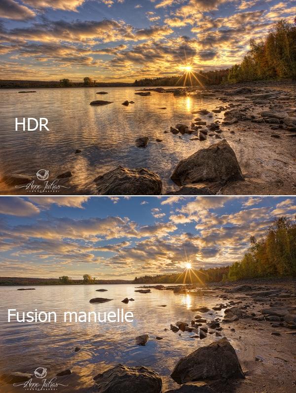 Exemple: Fusion et HDR