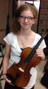 Rebecca at the FM Area Youth Symphony