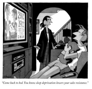 william-haefeli-come-back-to-bed-you-know-sleep-deprivation-lowers-your-sales-resistance-new-yorker-cartoon
