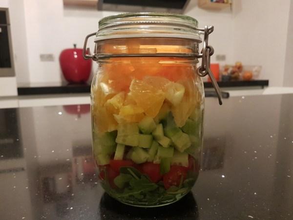 salade in een bokaal