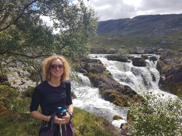 waterval tijdens de wandeling Aird Mhor and the Falls of Balgy