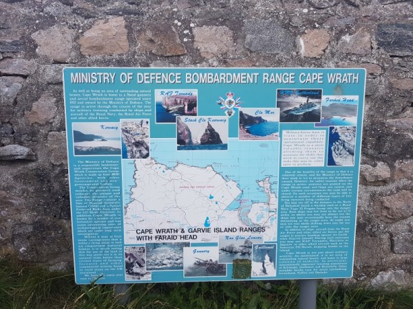 ministry of defence bombardment range cape wrath