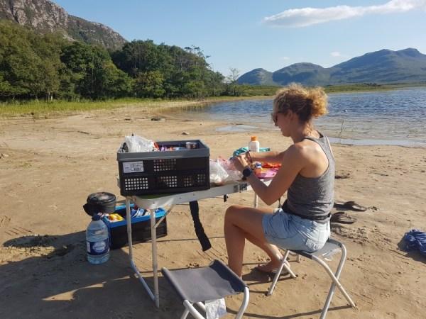 outdoor koken aan Loch Hope