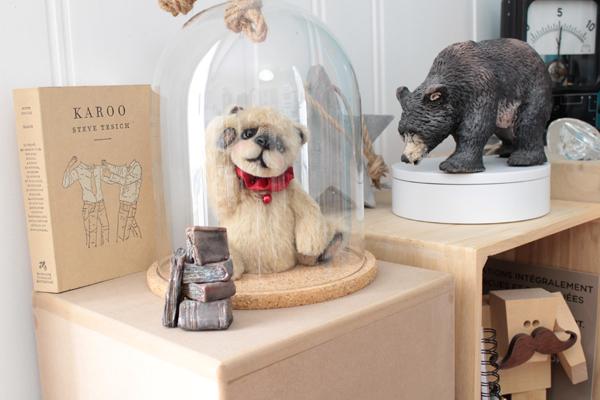 Sculpture textile ours collection OOAK artist bear Guillaume Verron