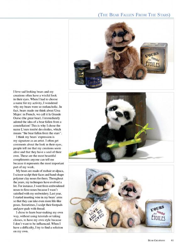 Australian Bear Creations Magazine 2016 Volume 20 Issue 4 ours artiste collection OOAK bear teddy verron