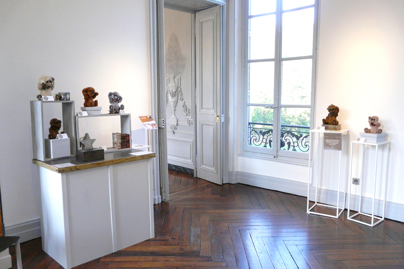 Salon d Arts en Artisans 2016 chateau Courcelles Montigny les Metz ours collection anne marie verron sculpture textile