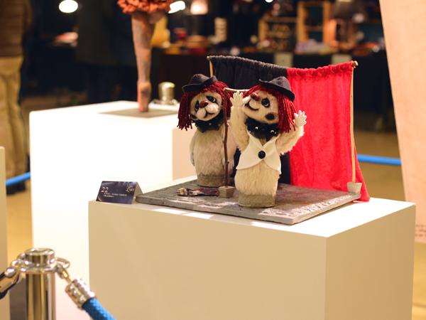 Concours noels de l art Reims 2019 opera Pagliacci Ris Paillasse Anne Marie Verron sculpture textile Boulingrin