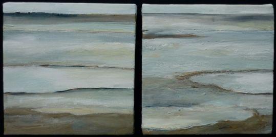 Oil on canvas. Lake Corangamite