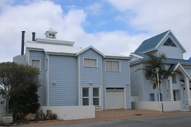 Colourful Beach Cottages of Mossel Bay South Africa
