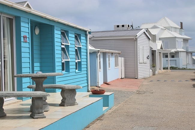Colourful Beach Cottages of Mossel Bay