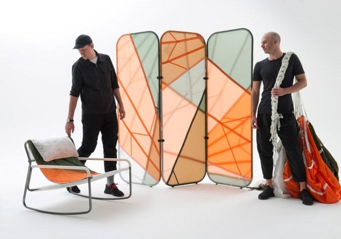 Classic-Blue-Parachute-Chair-Design- Dezeen