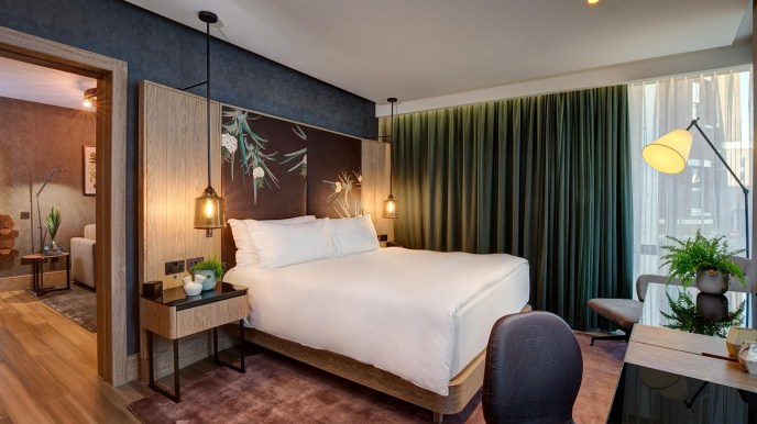 Vegan interior design - The Hilton Bankside vegan suite