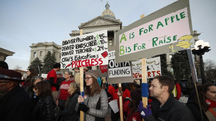 Denver Denver  Educators  Strike  Over  Base  Pay