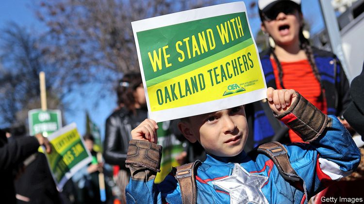 California's  instructors'  strikes  hide  a  dispute  of  generations