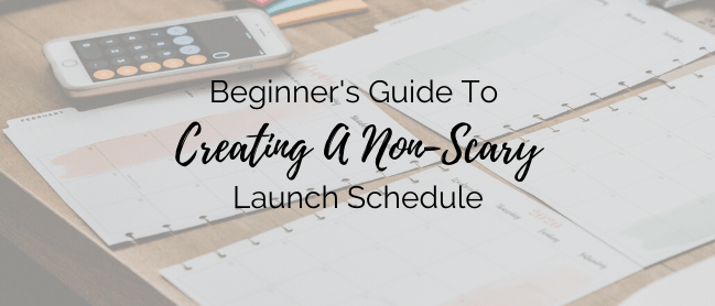 creating a launch schedule