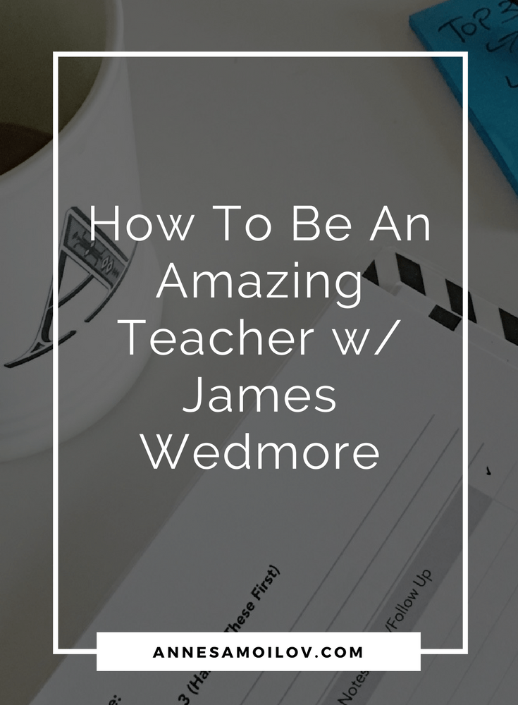 On this podcast, James Wedmore is talking about transformational teaching strategies, and spiritual aspects that need to be in alignment to succeed.