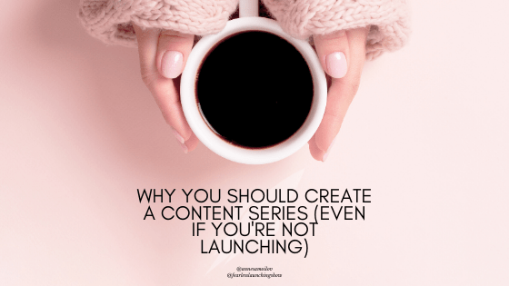 create a content series