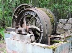 Något slags maskineri som använts vid gruvdriften