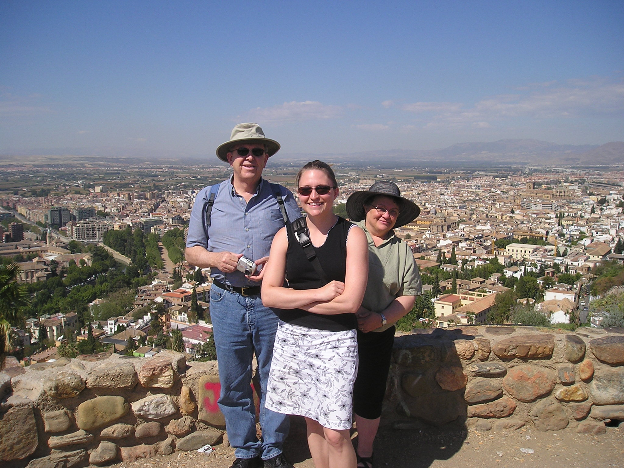 Me, Dad and Mom in Spain