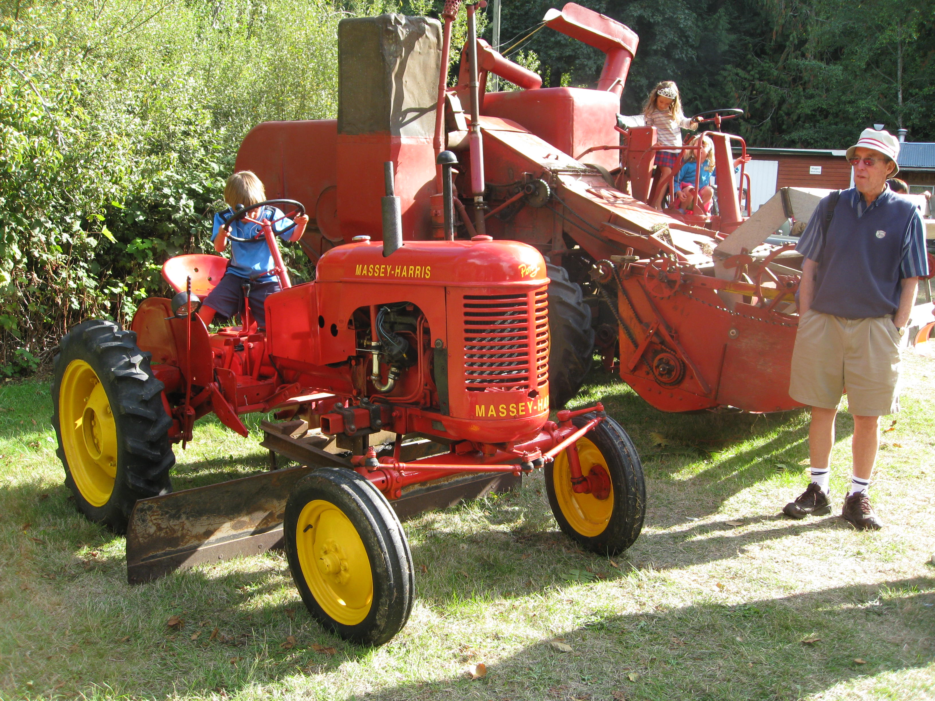Every boy dream of red tractor! A peek at the past.