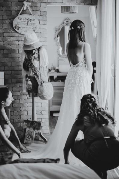 photos préparatifs mariée