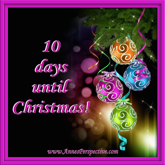 10 Days Until Christmas (with frame)