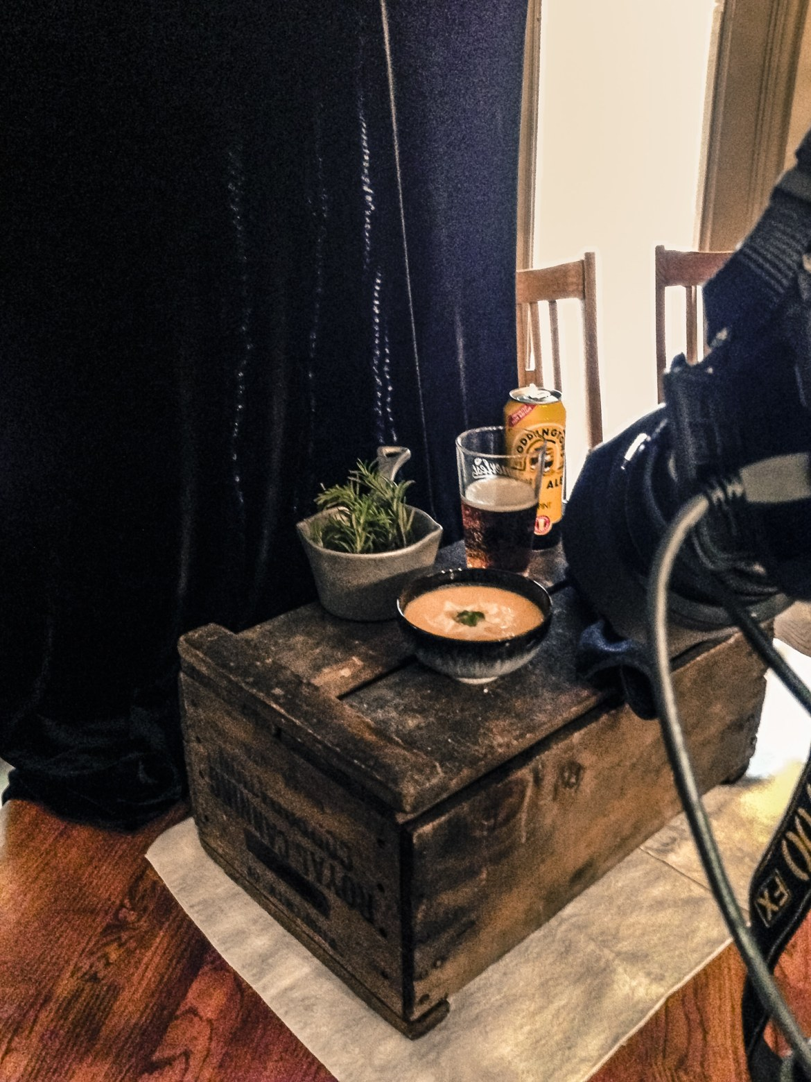 Food photography behind-the-scenes.