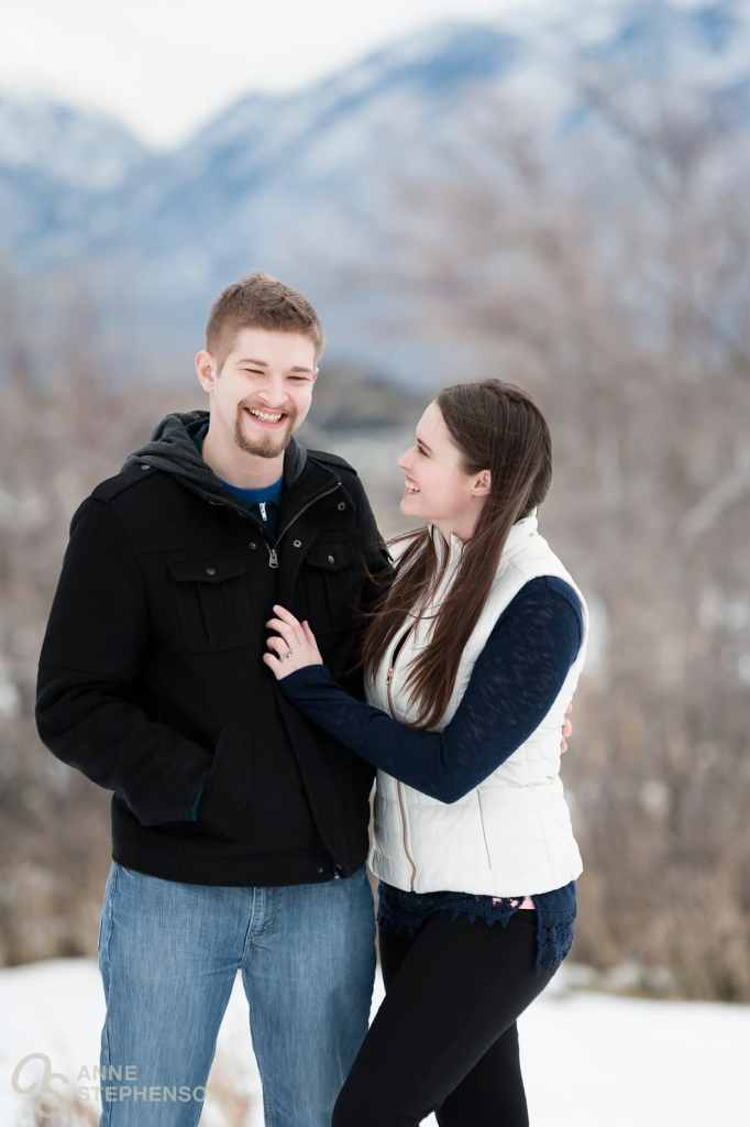 A relaxed moment during the engagement session. Stacie whispered something in Tyler's ear just a few minutes before I took this shot and he's still smiling. They definitely have a connection that you can feel throughout this shoot.