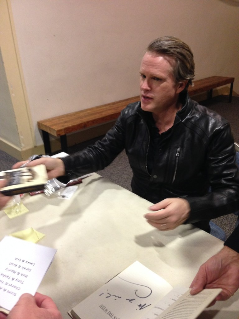 "Cary Elwes signs copies of his book ""As You Wish: Inconceivable Tales from the Making of The Princess Bride"" at a book signing in Salt Lake City, Utah."
