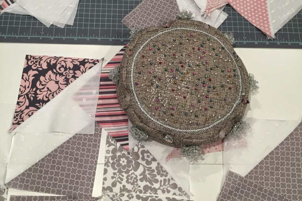 A DIY quilting project.