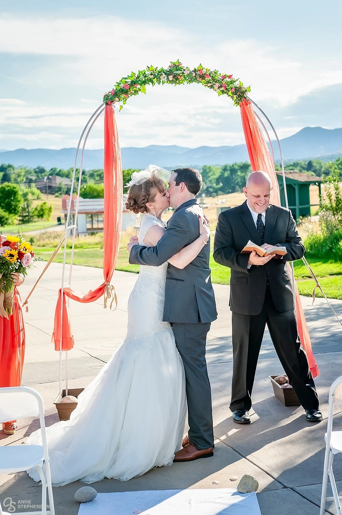 The kiss under the arbor at the Lakewood Heritage Center, Lakewood, Colorado.