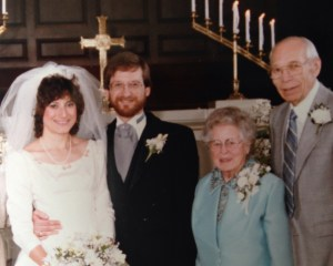 Anne and Bill Berk, Lucille and Loren Gray April 11, 1985