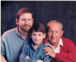 1994, three generations of William Berks. This is one of my favorite photos.