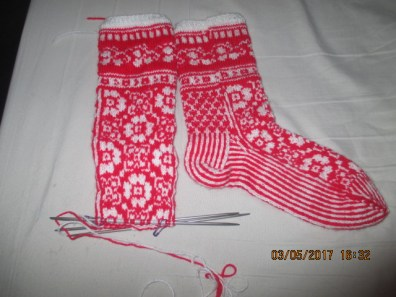 front of sock