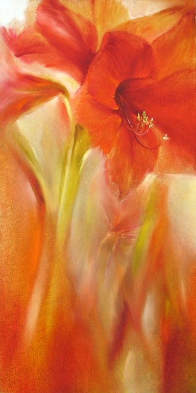 painting of amaryllis