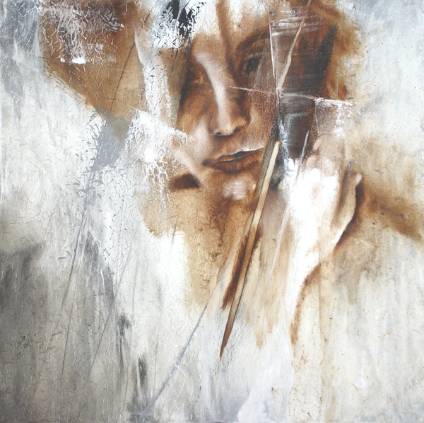 painting of a female face