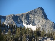 Banner Peak from our campsite