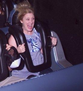 annette-in-disneyworld-rockin-roller-coaster